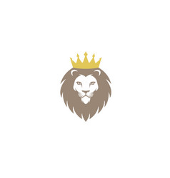 creative chef lion crown logo design symbol vector image