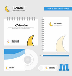 Cresent logo calendar template cd cover diary and vector