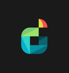 D initial logo design simple minimalist vector