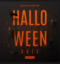 Dark background for halloween sale vector