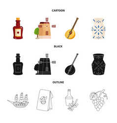 design and historic icon collection of vector image