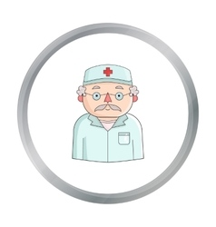 Doctor icon in cartoon style isolated on white vector
