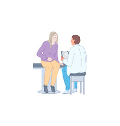 Doctor work patient examination medical practice vector