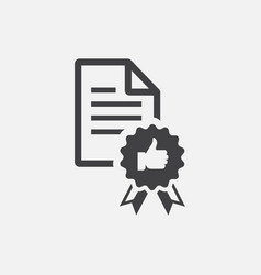 File document approved icon vector