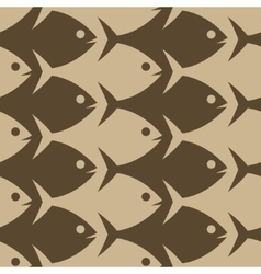 Fish seamless pattern Esher style vector image