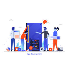 flat color modern design - app development vector image