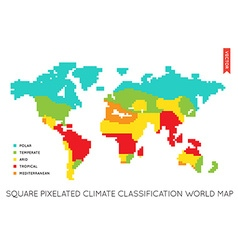 flat world map infographic map world vector image