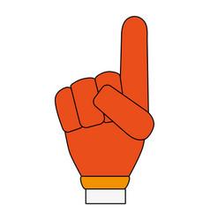 foam finger icon image vector image