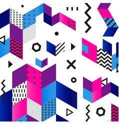 Funky seamless abstract geometric pattern - modern vector