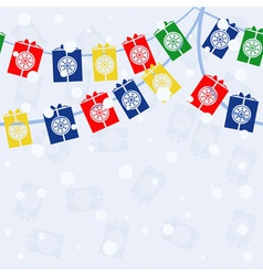 garland with gifts vector image