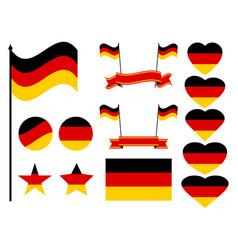 germany flag set collection of symbols flag vector image