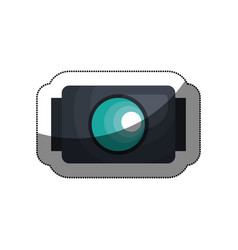 Go pro video camera icon vector