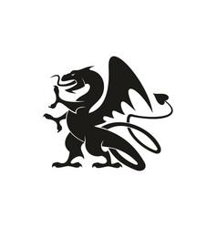 Gryphon mythical creature isolated dragon beast vector