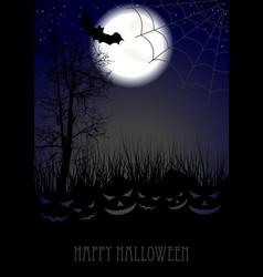 Halloween background with jack-o-lantern pumpkin vector