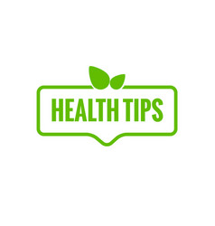 health tips organic badge vector image