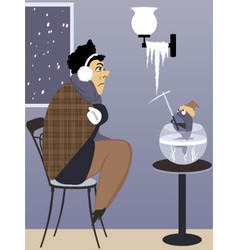 Heating problem vector image