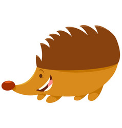 Hedgehog cartoon animal character vector
