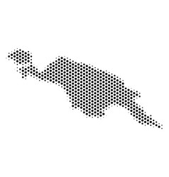Hex tile new guinea island map vector