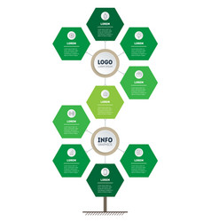 Infographic for green technology or education vector