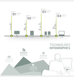 Infographic technology design time line template vector