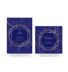 invitation card template of gold geometric design vector image