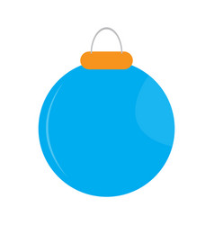 isolated christmas ball icon vector image