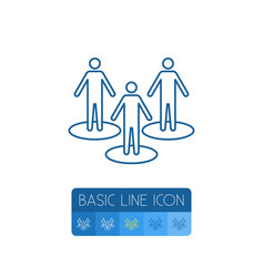 isolated people outline partner element vector image