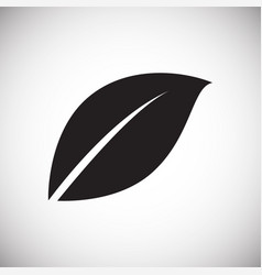 leaf icon on white background for graphic and web vector image