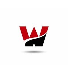 Letter W logo vector