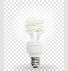 lighting powersave lamp on transparent background vector image