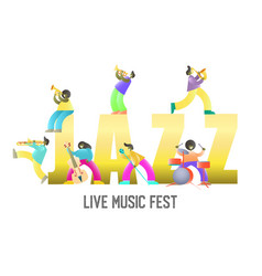 live music fest poster banner template vector image