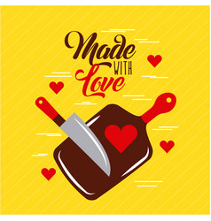 Made with love cooking vector