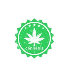 marijuana cannabis vector image
