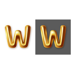 metallic gold alphabet letter symbol - y vector image