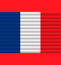 National flag france for independence day vector