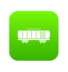 oil railway tank icon digital green vector image