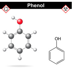 Phenol formula vector image