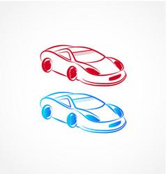 Race cars art vector