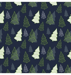 Seamless Christmas New Years pattern vector