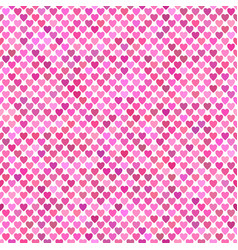 seamless pink heart background pattern design vector image