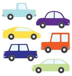 set cartoon cars vector image