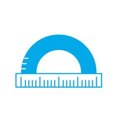 Silhouette measuring ruler school tool design vector