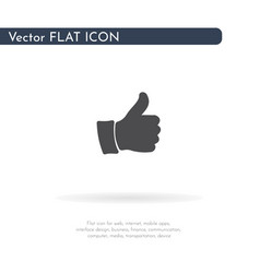 thumbs up icon for web business finance and vector image