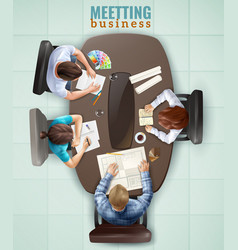 top view meeting vector image