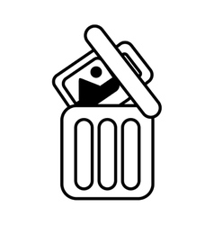 Trash can web picture information line vector