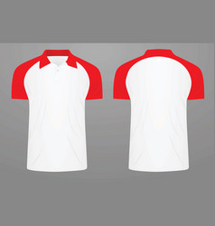 two colors polo t shirt vector image