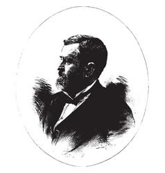 ulysses grant vintage vector image