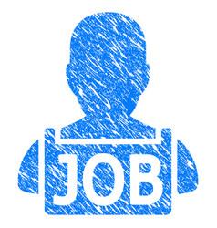 unemployed grunge icon vector image