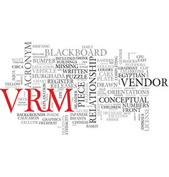 vrm word cloud concept vector image