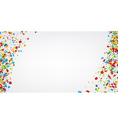 White background with confetti vector